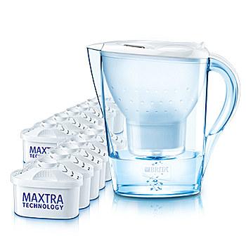BRITA Jahrespaket Marella weiß 2,4 l + 12 MAXTRA Kartuschen