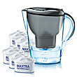 BRITA value pack water filter jug Marella Graphite 2,4 l + 6 cartridges