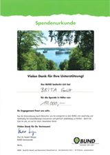 Friends of the Earth Germany certificate
