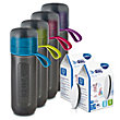 BRITA fill&go Active Water Filter Bottle Pink 0.6 l + 7 MicroDiscs