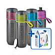 BRITA fill&go Active Water Filter Bottle Lime 0.6 l + 1 MicroDisc