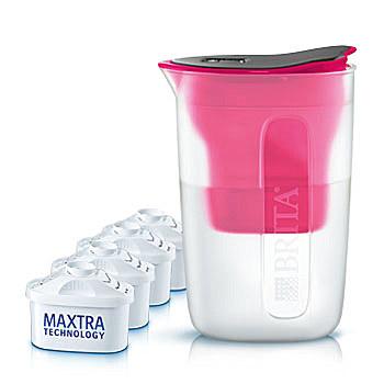BRITA Vorteilspaket fill&enjoy Fun pink 1,5 l + 4 Kartuschen