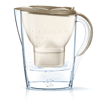 BRITA water filter jug fill&enjoy Marella Gold 2.4 l + 2 cartridges